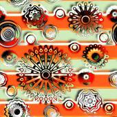 Konst glas blommor färgstarka bakgrund — Stockfoto
