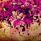 Art floral ornament grunge background — Stok fotoğraf