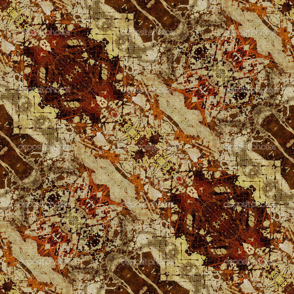 Art eastern ornamental traditional pattern in brown color — Stock Photo #16806705