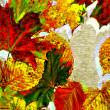 Art leaves autumn background card — Stockfoto