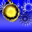 Art colorful glass christmas background with space for text — Stock Photo #16814303