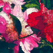 Art floral colorful watercolor background — Stockfoto