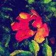 Art floral colorful watercolor background — ストック写真