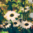 Art floral colorful watercolor background - 图库照片