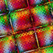 艺术抽象彩虹几何图案背景 — 图库照片