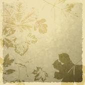 Art leaves autumn background card — Стоковое фото