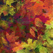 Art leaves autumn background card — Foto de Stock