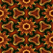 Art eastern national traditional pattern in red, green, brown an — Stock Photo