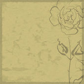 Art sketching flowers on sepia background — Stock Photo