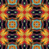 Art eastern national traditional pattern in green, orange, red a — Stock Photo