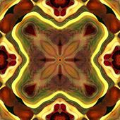Art eastern national traditional pattern in red, green, brown an — Stok fotoğraf