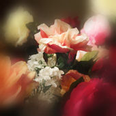 Art floral watercolor background — Stock Photo