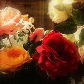 Art floral vintage colorful background — Stock Photo