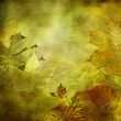 Art leaves autumn background, card — Stock Photo