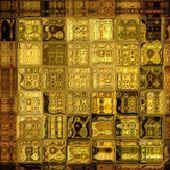 Geometrisches muster hintergrund kunst abstrakt regenbogen — Stockfoto