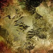 Kunst blätter herbst hintergrund, card — Stockfoto