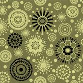 Art seamless stylization ornamental vintage pattern — Stock Vector