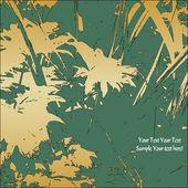 Art floral card — Stock Vector