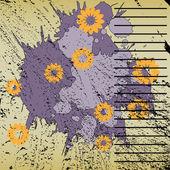 Ilustracja kwiatowy tło — Wektor stockowy