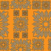Art stylization geometric pattern in black background — Stock Vector