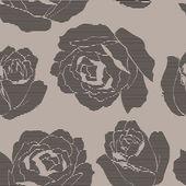 Art roses stylization vintage seamless pattern on grey background — Stock Vector