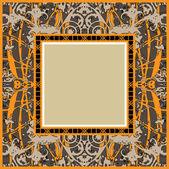 Art ornamental vintage frame — Stock Vector