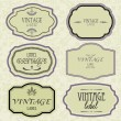 Stock Vector: Art set of vector vintage frame lable
