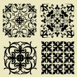 Stock Vector: Art set of damask patterns