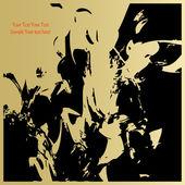 アート抽象的なグラフィック様式化グランジ花の背景 — ストックベクタ