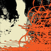 Art contour background — Stock Vector
