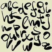 Art sketching set of vector font symbols — Stock Vector