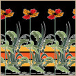 图库矢量图片: Art deco seamless pattern with stylization flowers