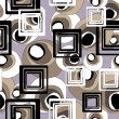 Stok Vektör: Art geometric seamless pattern, background