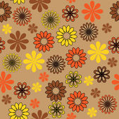 Art seamless ornamental vintage floral pattern — Stock Vector