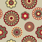 Art seamless floral pattern — Stock Vector
