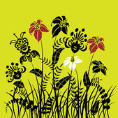 Art floral holidays vector card — Stock Vector