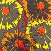 Kunst florales muster hintergrund skizzieren — Stockvektor