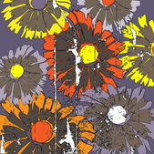 Sztuka tło wzór kwiatowy szkicowanie — Wektor stockowy
