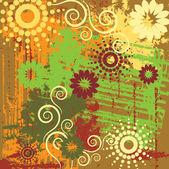Art floral background — Stockvektor