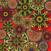 Art vintage floral ornamental seamless background, vector — Stock Vector