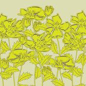 Art beautiful floral vector background — Stockvector