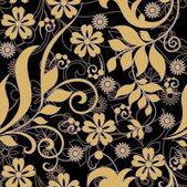 Art vintage floral background, seamless pattern — Stock Vector