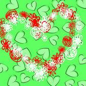 Art valentine background — Stock Vector