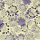 Art floral drawing graphic seamless pattern — Stock Vector
