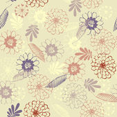 Art floral drawing graphic seamless pattern — ストックベクタ
