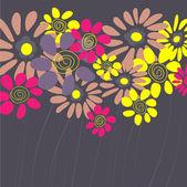 艺术复古花卉矢量背景 — 图库矢量图片