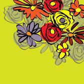 старинные цветочные весной справочная — Cтоковый вектор