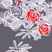 Art beautiful floral vector background — 图库矢量图片