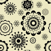 Art vintage floral pattern background — Stock Vector