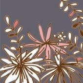 Art vintage floral background — Stock Vector